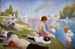 bathing at asnieres by georges seurat painting