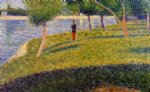 cadet from saint by georges seurat painting