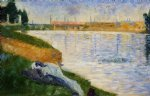 georges seurat clothing on the grass painting