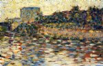 georges seurat courbevoie landscape with turret painting 33525