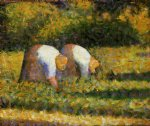 farm women at work by georges seurat painting
