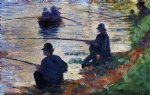fishermen by georges seurat painting