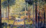forest path barbizon by georges seurat painting
