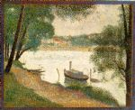 gray weather grande jatte by georges seurat painting