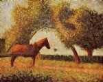 horse by georges seurat painting