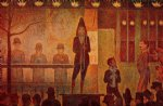 georges seurat invitation to the sideshow painting