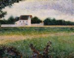 landscape of the ile de france by georges seurat painting