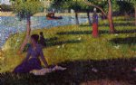 georges seurat seated and standing woman painting