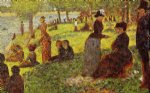 sketch with many figures by georges seurat painting