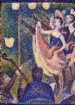 study for chahut ii by georges seurat painting