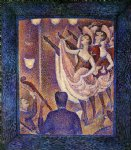 study for chahut by georges seurat painting