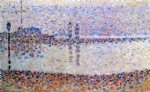 study for the channel at gravelines by georges seurat painting