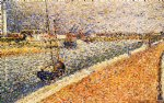 study for the channel at grvelines petit by georges seurat painting