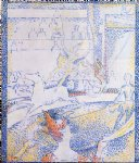 study for the circus by georges seurat painting