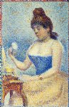 study for young woman powdering herself by georges seurat painting