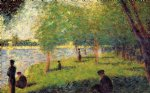 georges seurat study with figures painting