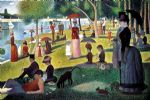 georges seurat sunday afternoon on the island of la grande jatte painting