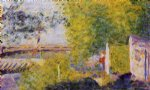 the bineau bridge by georges seurat painting