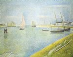 georges seurat the channel at gravelines in the direction of the sea painting