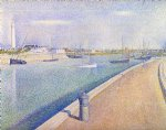 the channel at gravelines petit by georges seurat painting