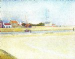 the channel at gravelins grand by georges seurat painting