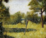 georges seurat the clearing painting