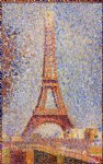 georges seurat the eiffel tower painting