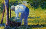 georges seurat the gardener print