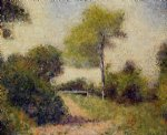 georges seurat the hedge painting