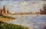 georges seurat the riverbanks paintings