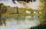 the riverside by georges seurat painting