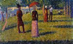 georges seurat the rope painting