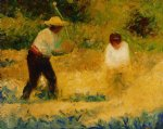the stone breaker ii by georges seurat painting