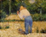 georges seurat the stone breaker iii painting