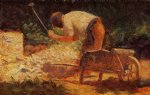 georges seurat the stone breaker painting