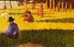 georges seurat white dog painting