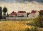 georges seurat white houses ville d avray painting