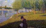 georges seurat woman sewint painting