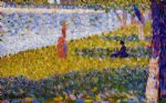 georges seurat women by the water painting
