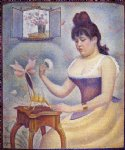 georges seurat young woman powdering herself prints