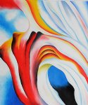 georgia o keeffe music pink and blue ii painting