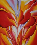 georgia o keeffe red canna painting