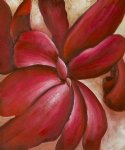georgia o keeffe red cannas ii painting