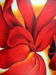 georgia o keeffe red cannas iii painting