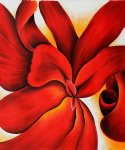 georgia o keeffe red cannas painting
