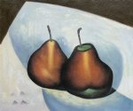 two pears by georgia o keeffe painting