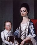 gilbert stuart christian stelle banister and her son john painting