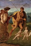 four allegories lust or perseverance by giovanni bellini painting