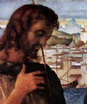 giovanni bellini madonna and child with st john the baptist and a saint detail art