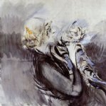 a lady with a cat by giovanni boldini painting